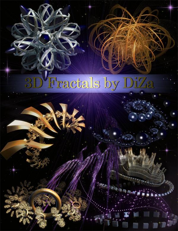 3D фракталы на прозрачном фоне