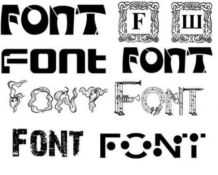Много красивых шрифтов выбирайте на